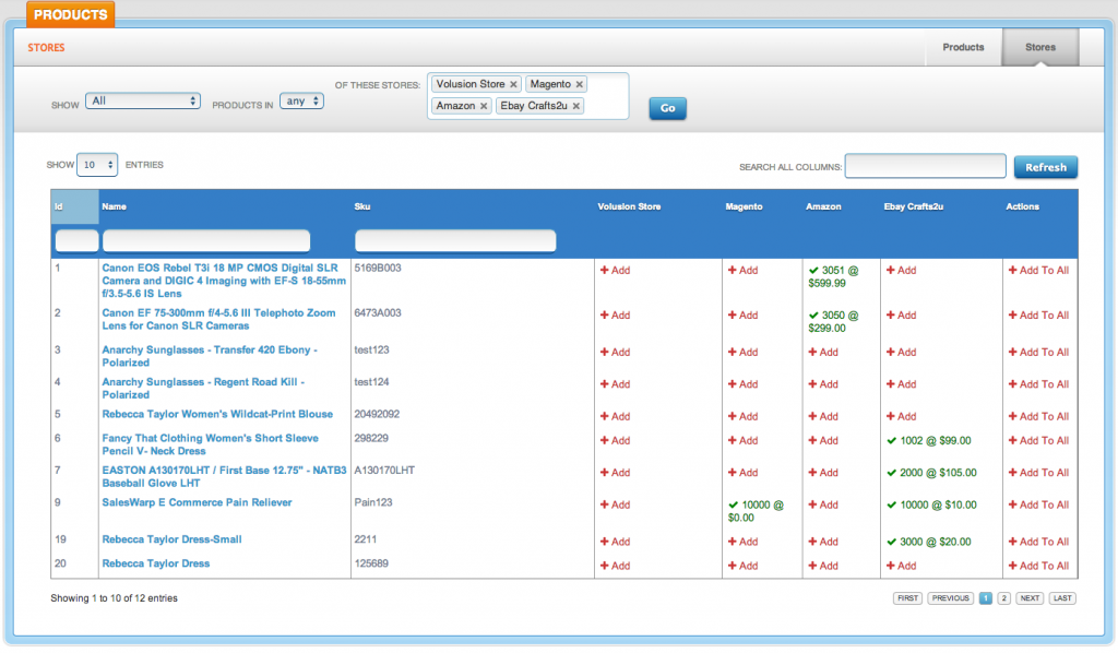 Product listing tools