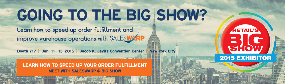 Going to the NRF BIG Show? Schedule a demo with SalesWarp to learn you can speed up order fulfillment and improve warehouse operations.