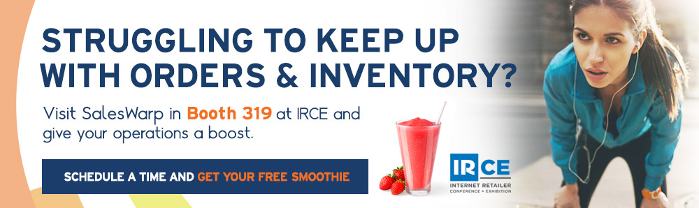 Struggling to keep up with orders & inventory? Visit SalesWarp in booth 319 at IRCE 2015.