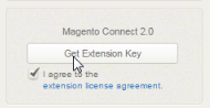 Read and agree to license then click 'get key'