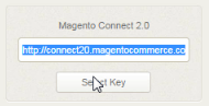 Click 'select key' and copy the highlighted text